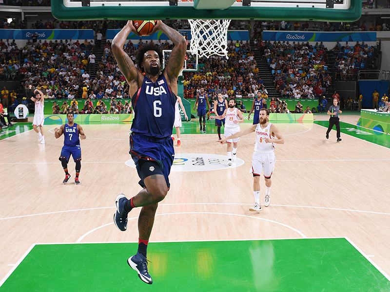 DeAndre Jordan closed the night with nine points and tied the USA's single-game Olympic rebounding record with 16. Previously Tim Duncan grabbed 16 against Puerto Rico in 2004 and James Brewer had 16 against Australia in 1972.