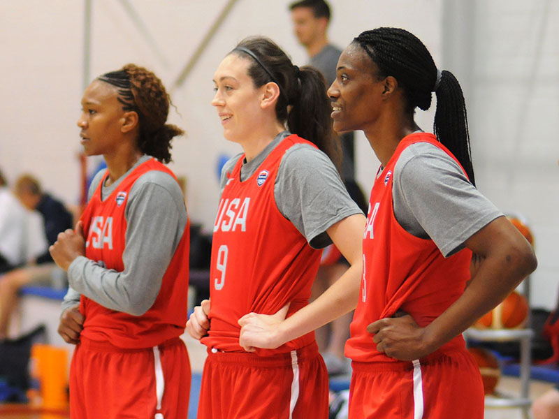 Tamika Catchings, Breanna Stewart and Sylvia Fowles