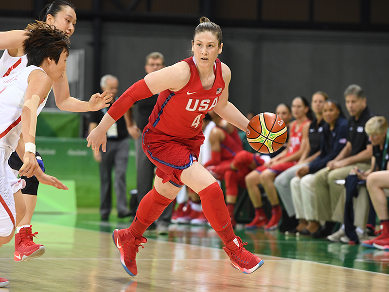 Lindsay Whalen dished out her Olympic best six assists and also had six points and five rebounds.