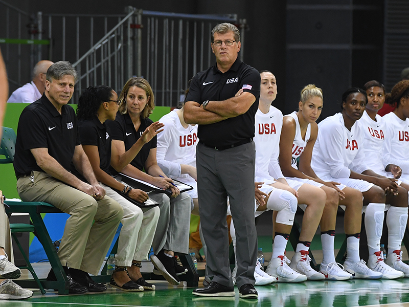 Geno Auriemma is directing the USA National Team at a fourth-straight international major.