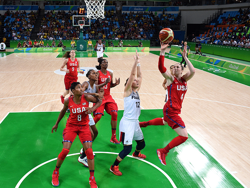 Lindsay Whalen chipped in five points and had one assist and one steal against France.