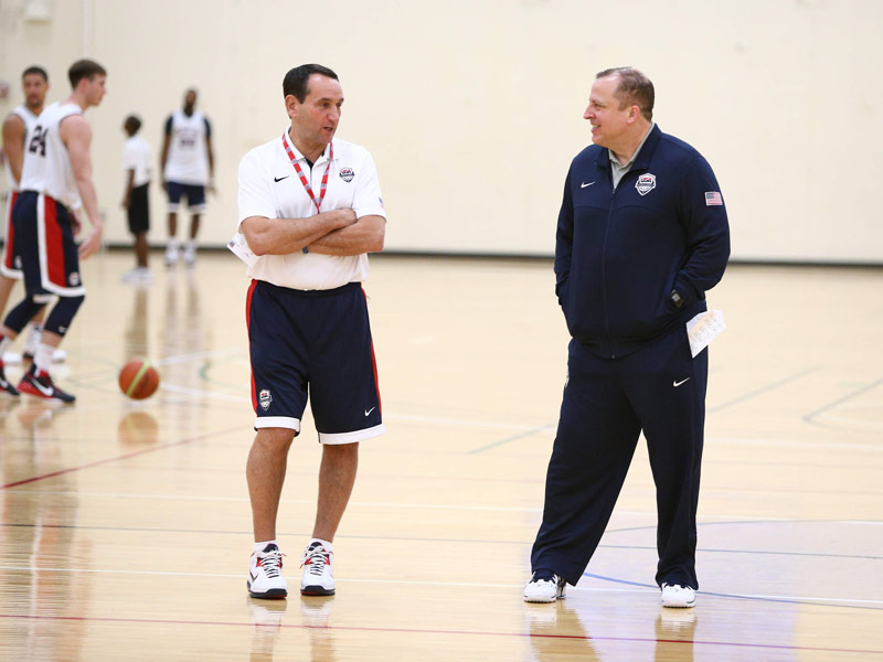 Mike Krzyzewski and tom Thibodeau