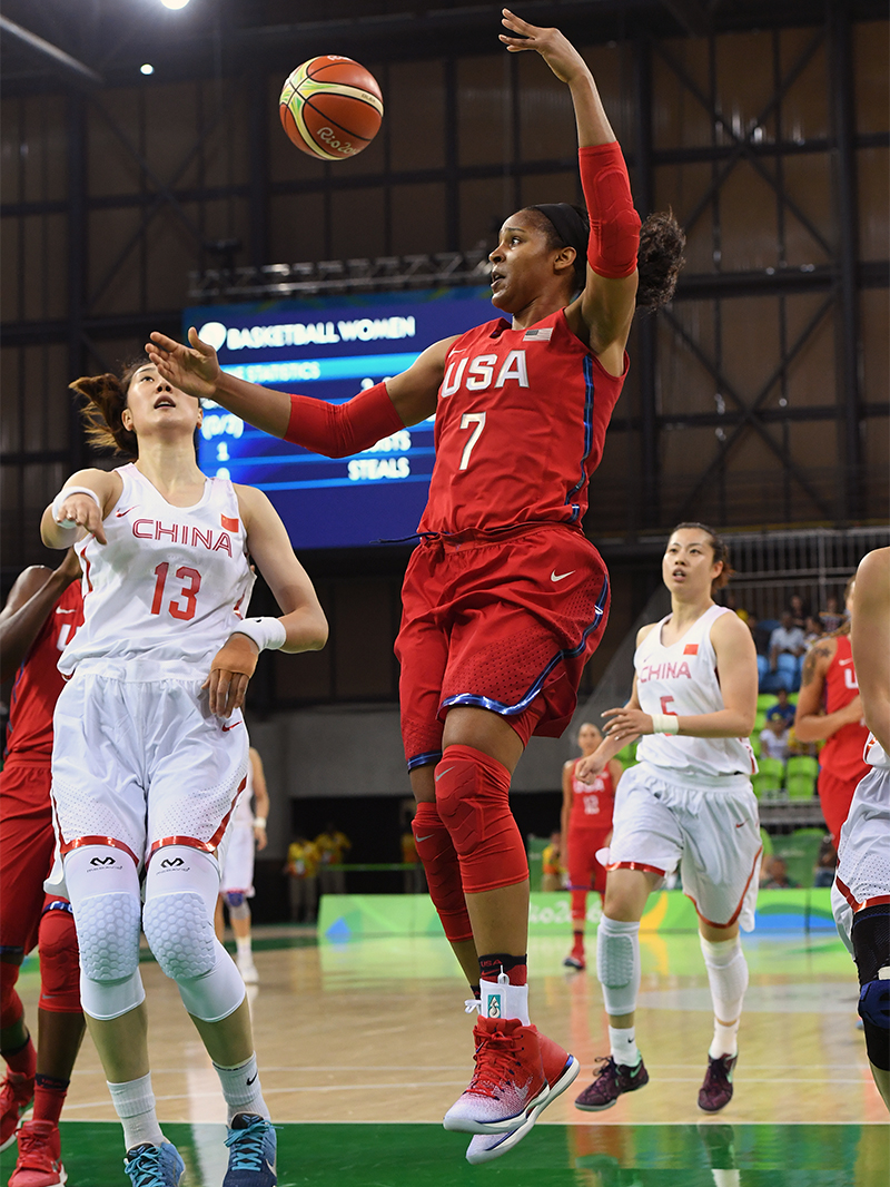 Maya Moore dished out eight of the USA's record 40 assists, and it was the most she has ever notched in Olympic play.
