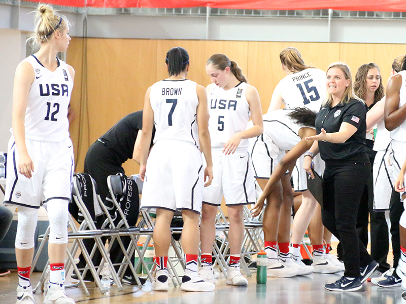 USA assistant coach Samantha Quigley (University of St. Francis, IL)