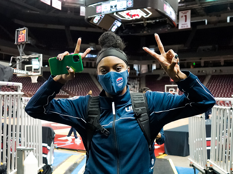 2019 FIBA AmeriCup All-Star Five selection Diamond DeShields enjoyed being back in the red, white and blue.