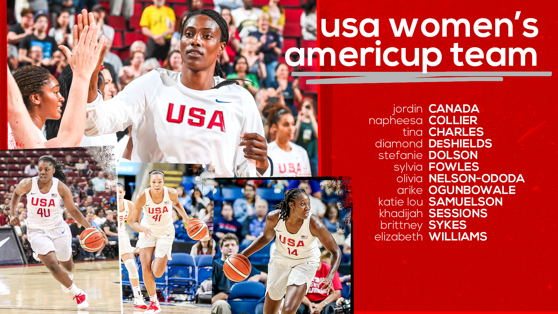 Gold Medalists Headline USA Women's AmeriCup Team