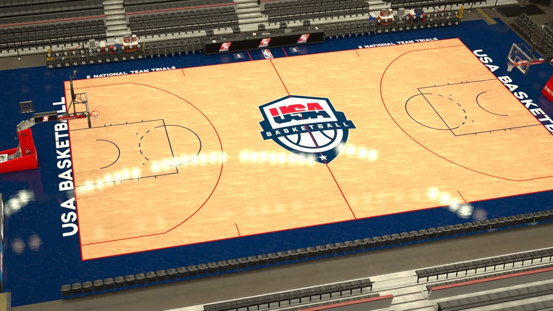 USA Basketball E-National Team trials court
