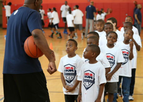Youth clinics run by USA Basketball.