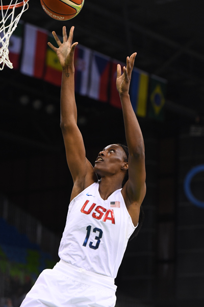 Sylvia Fowles finished with four points to go along with six rebounds.