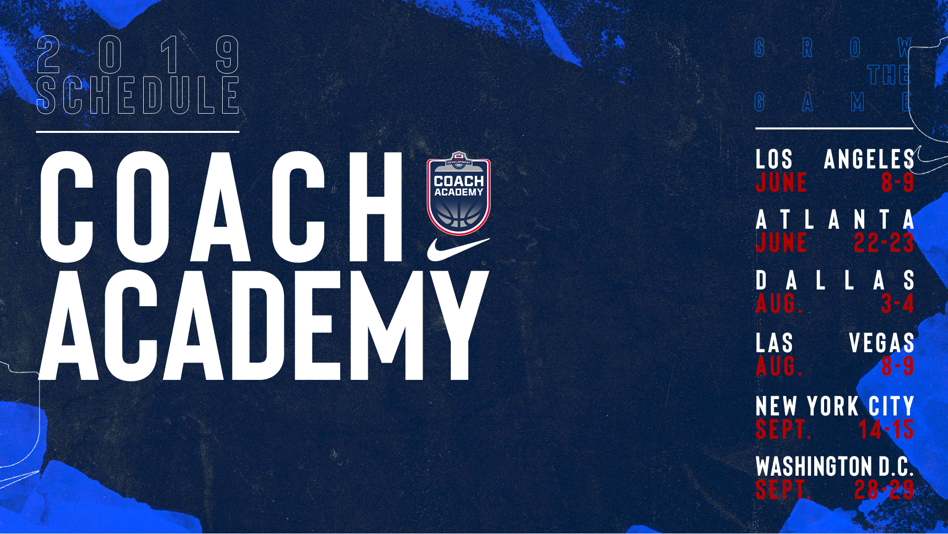 USA Basketball Coach Academy locations and dates