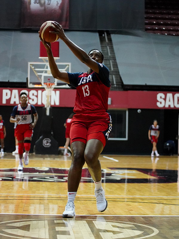 Sylvia Fowles drives to the hoop.