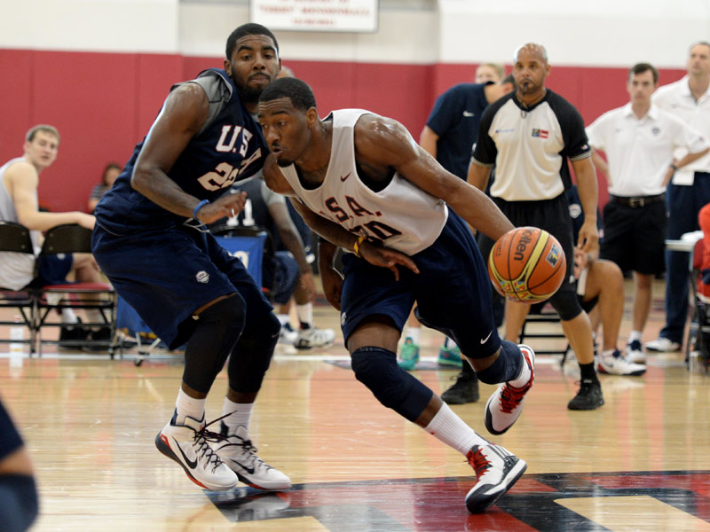 John Wall and Kyrie Irving