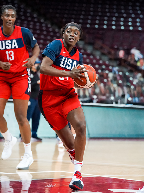 Kahleah Copper played well in her first USA National Team camp.