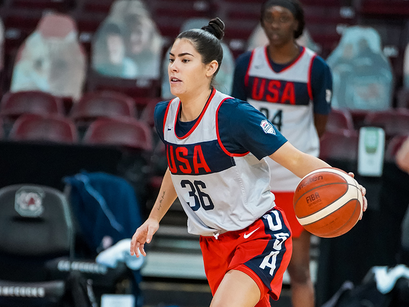 After tearing her Achilles and missing the 2020 WNBA season, Kelsey Plum is back on the court.