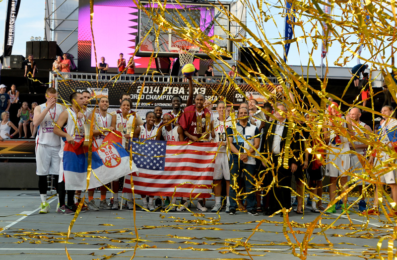 FIBA 3x3 World Championship medal ceremony.
