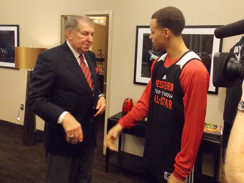 Jerry Colangelo with Stephen Curry