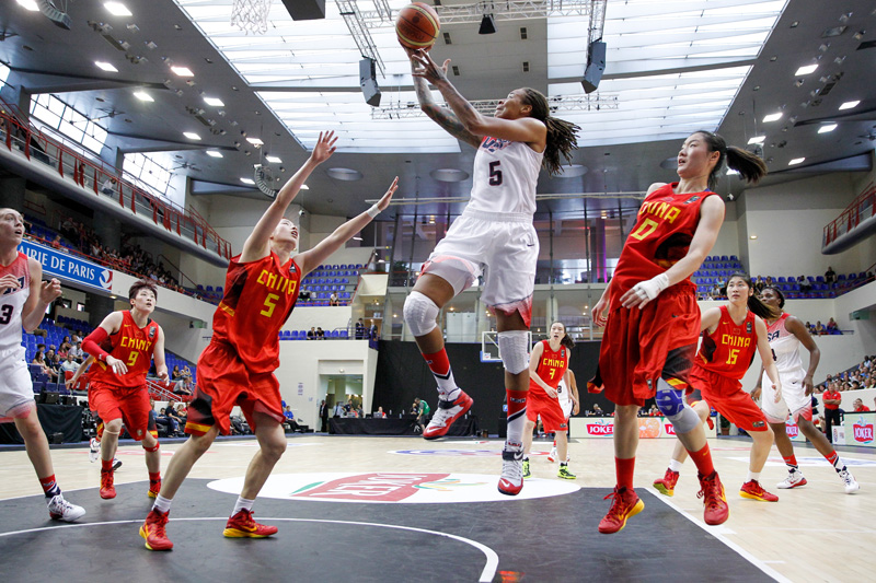 Seimone Augustus scored 10 points and had a team-best four steals in the win over China. (Catherine Steenkeste/NBAE/Getty Images)