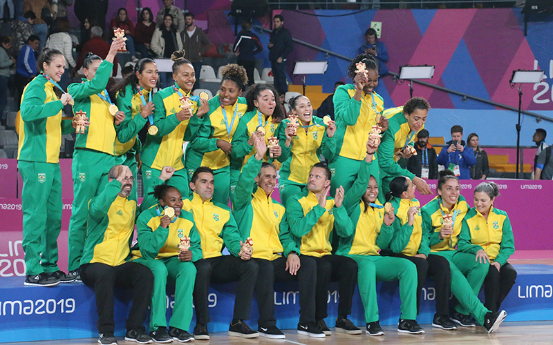 Gold medalists Brazil