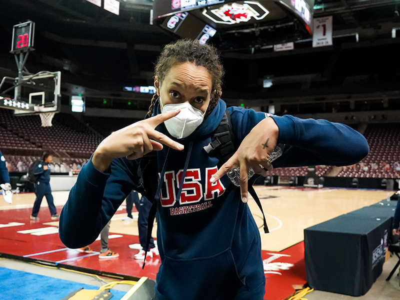 Brittney Griner is headed back to Russia, where UMMC Ekaterinburg is into the EuroLeague quarterfinals.