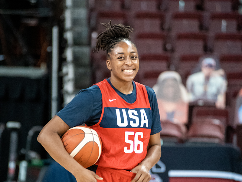 Nneka Ogwumike is all smiles.