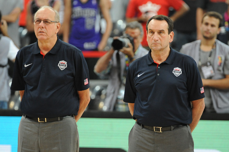 Coach K and Jim Boeheim