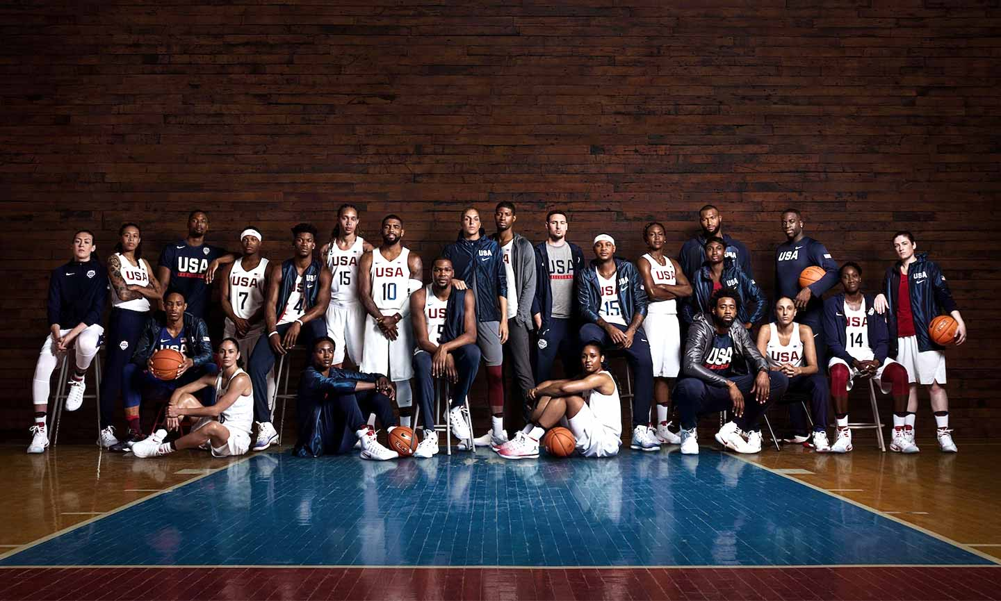 men and women of usa basketball