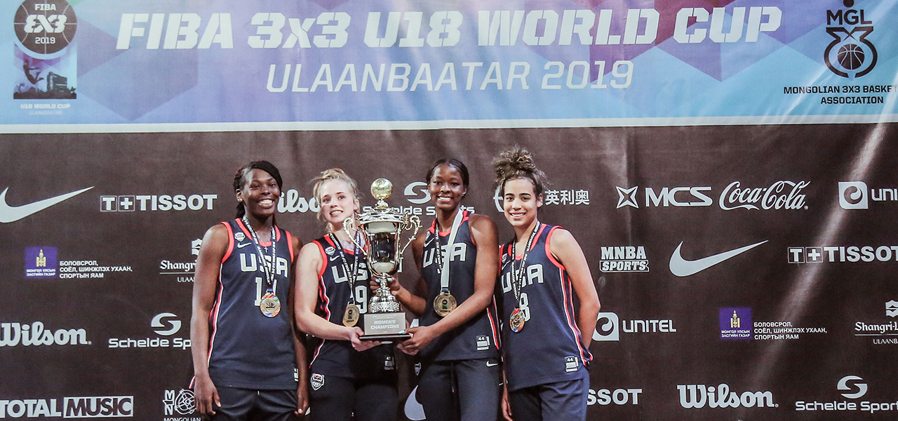 2019 USA Women's 3x3 U18 Gold Medalists