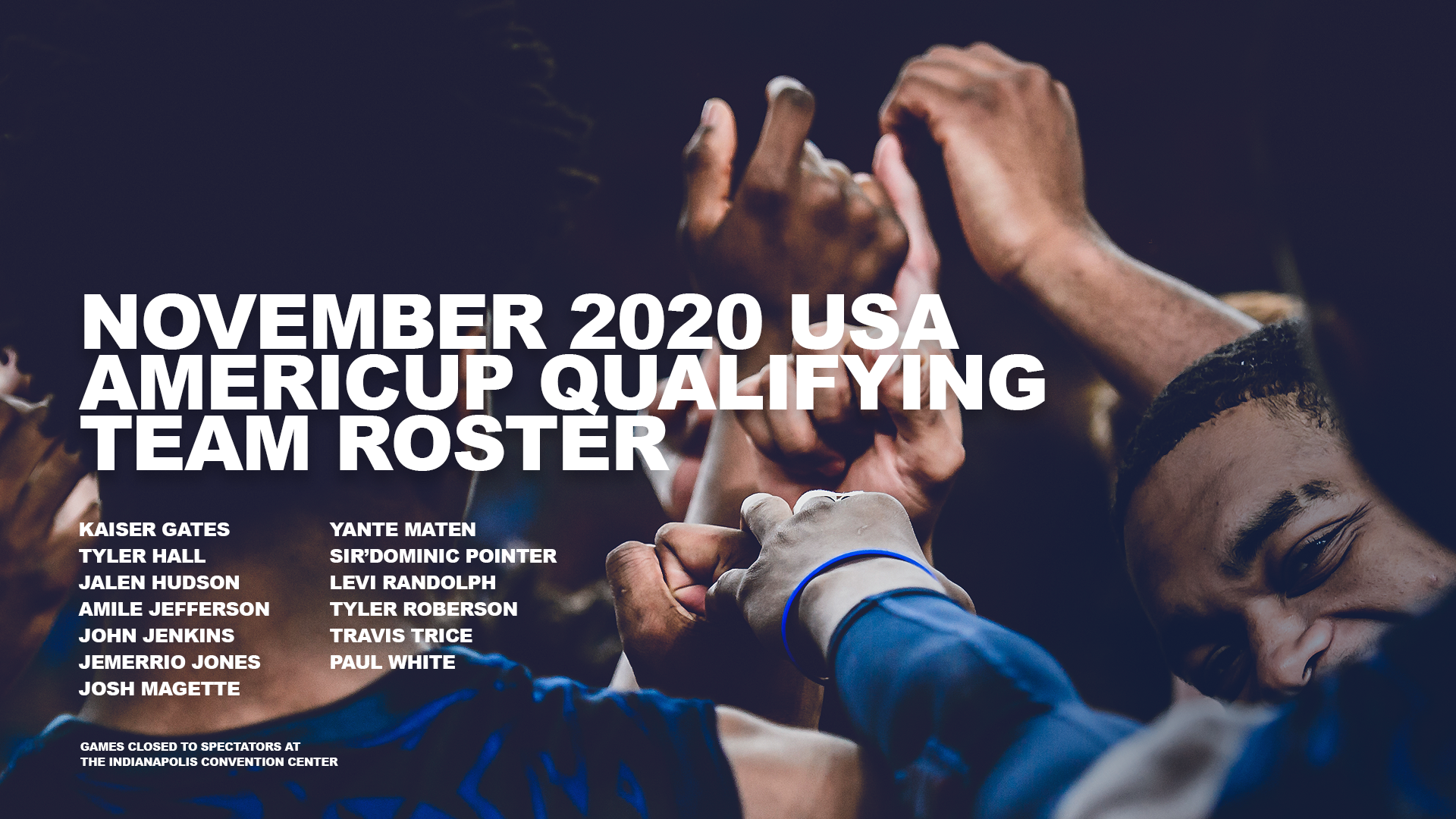 USA AmeriCup Qualifying Team November 2020