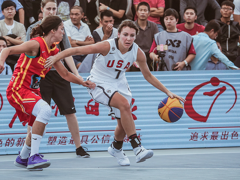Natalie Romeo, who helped the University of Washington advance to the 2017 NCAA Sweet 16, earned a bronze medal with the 2016 USA 3x3 World Championship Team.