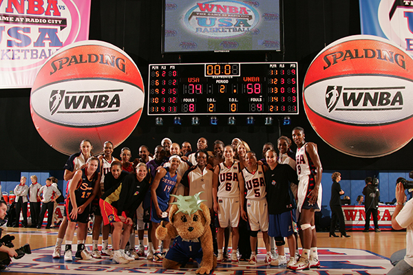 2004 USA National Team vs. WNBA