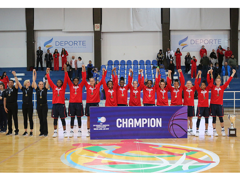 2017 FIBA Americas U16 Championship for Women gold medalists!