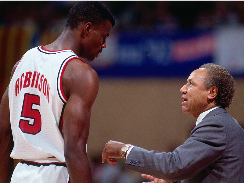 David Robinson and Lenny Wilkens
