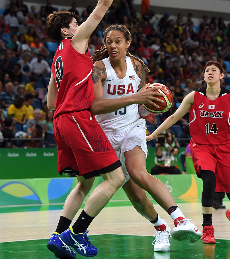Brittney Griner blocked three shots and collected seven rebounds.