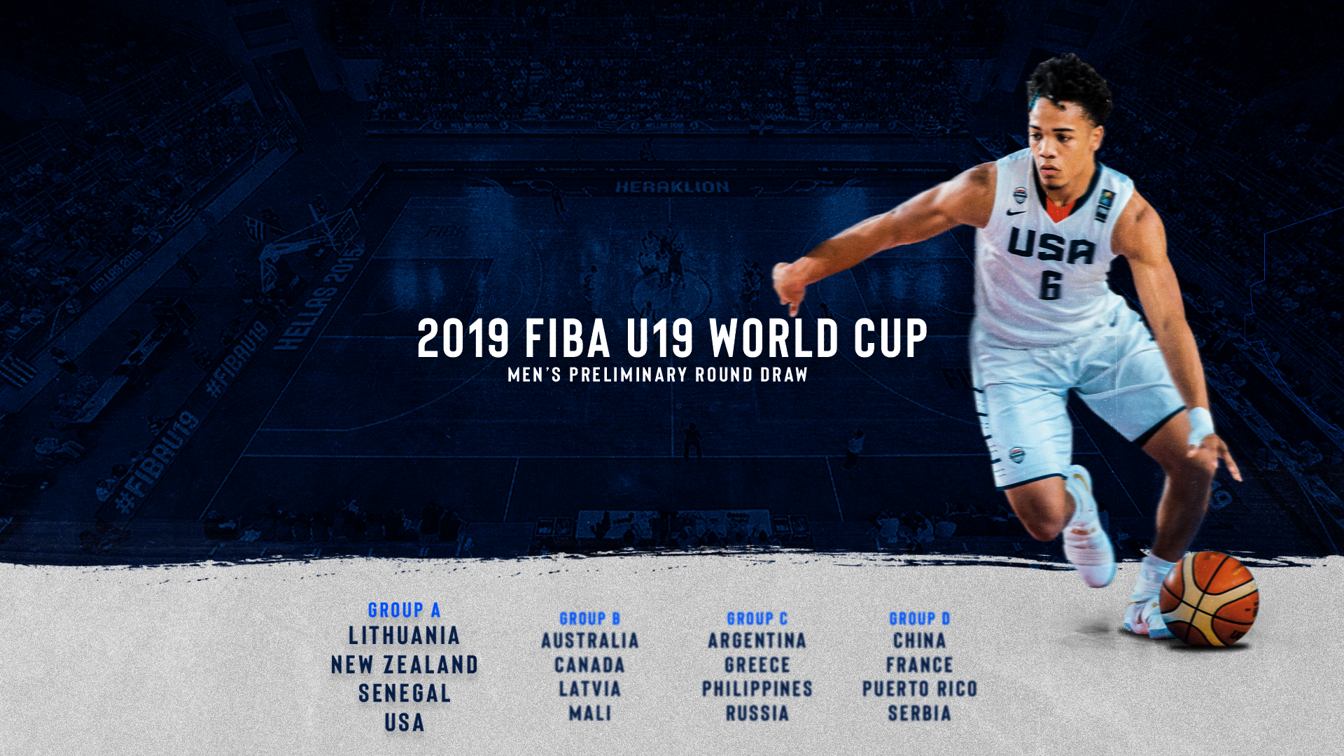 USA Basketball 2019 MU19 Draw