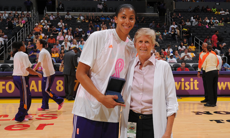 Candace Parker and Carol Callan