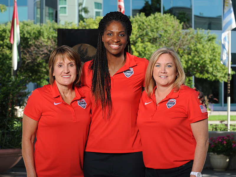 USA Basketball U18 National Team coaching staff