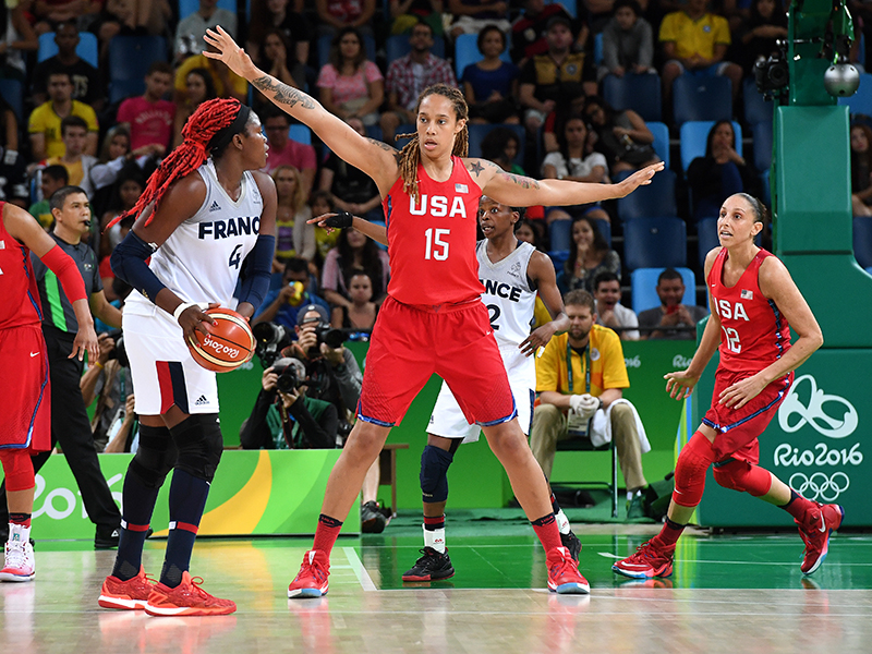 Brittney Griner scored 10 points and had six rebounds.