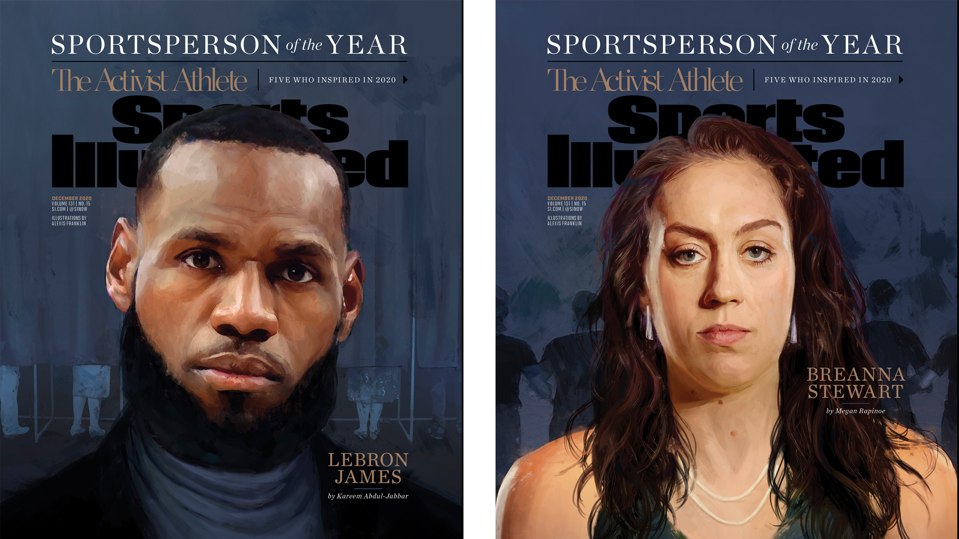 LeBron James and Breanna Stewart