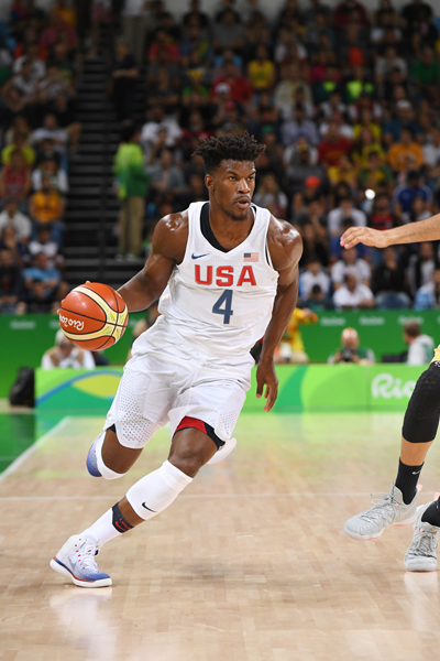 Jimmy Butler scored 17 points while playing just under 20 minutes in the game.