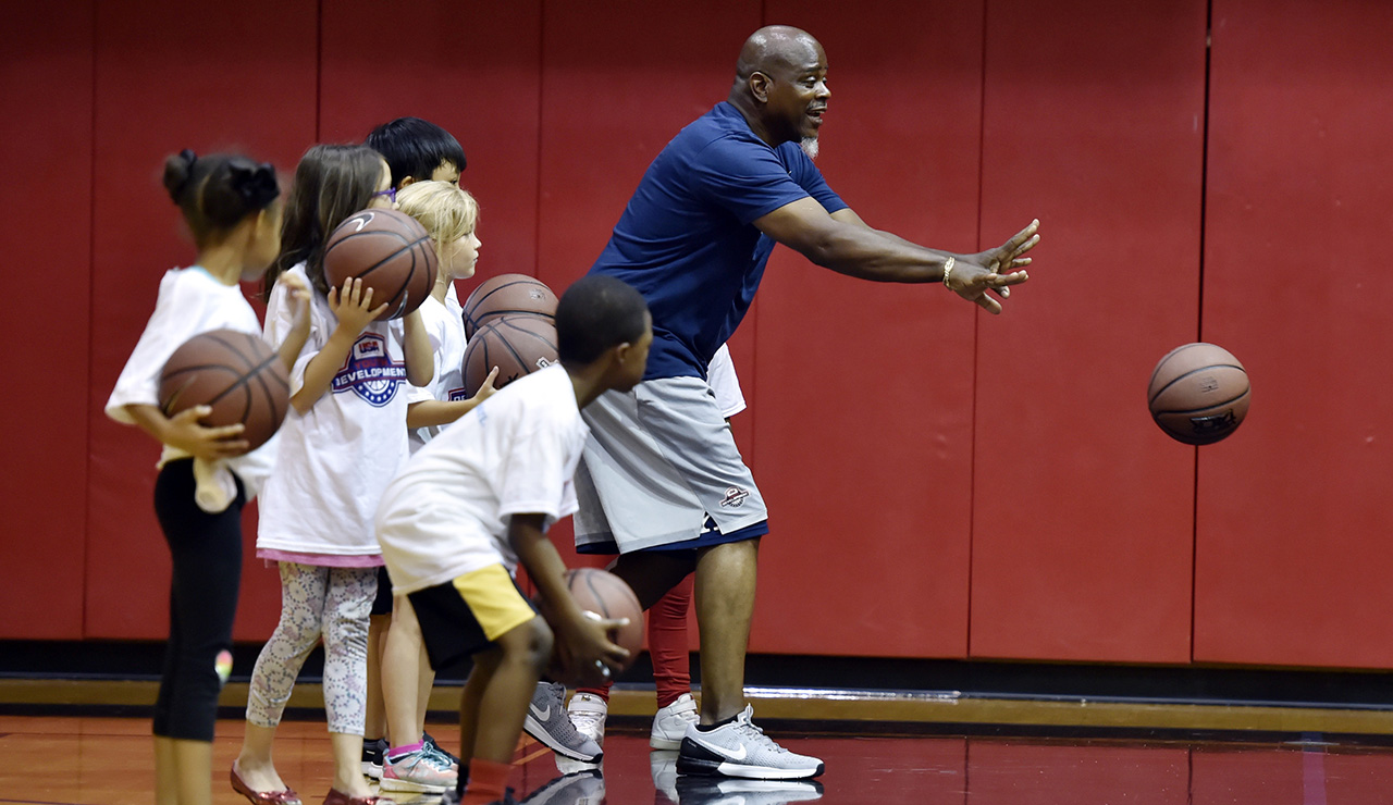 USA Basketball clinic
