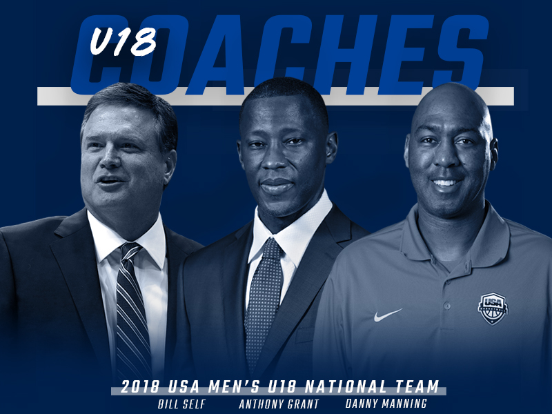 2018 USA Men's U18 Coaches