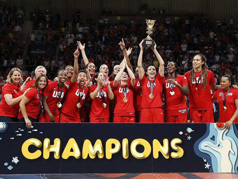 2018 FIBA World Cup Gold Medalists