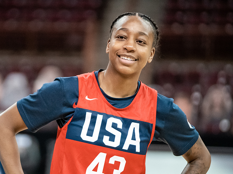 2018 FIBA World Cup gold medalist Jewell Loyd is hoping the Olympics are in her future this summer.