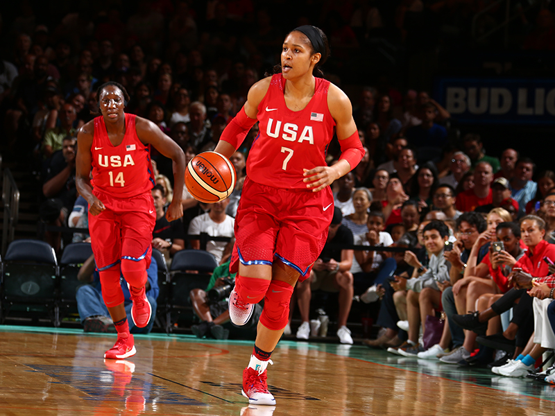 Maya Moore finished with 13 points, six boards and six assists against Australia.