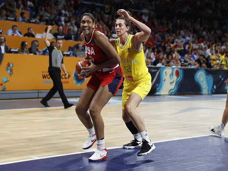 2018 USA Baskeball World Cup Team 73, Australia 56 (gold medal game)
