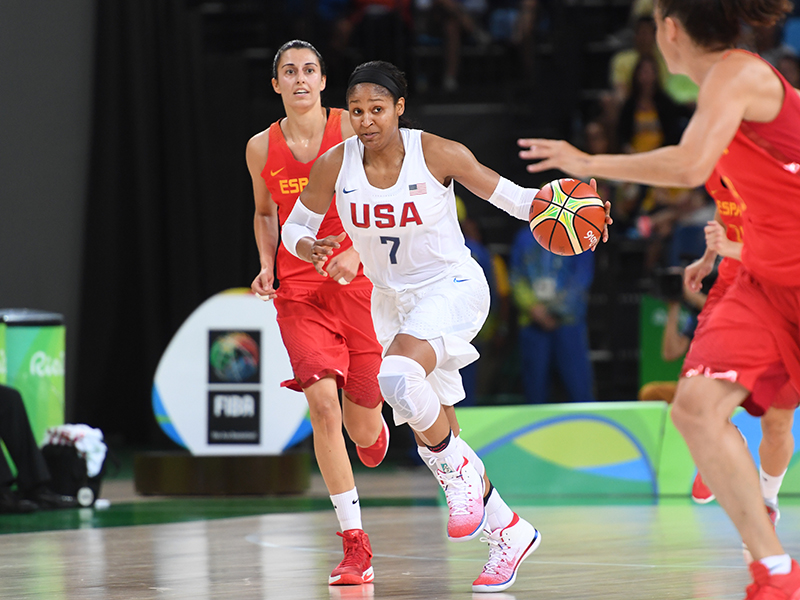 Maya Moore had 14 points, five rebounds and six assists.