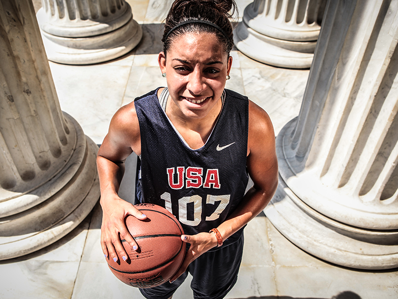 Current New York Liberty guard and former University of Connecticut Husky Bria Hartley was a member of the 2014-16 USA Women's National Team and won four gold medals playing on USA Basketball teams, including at the 2012 3x3 World Championship.