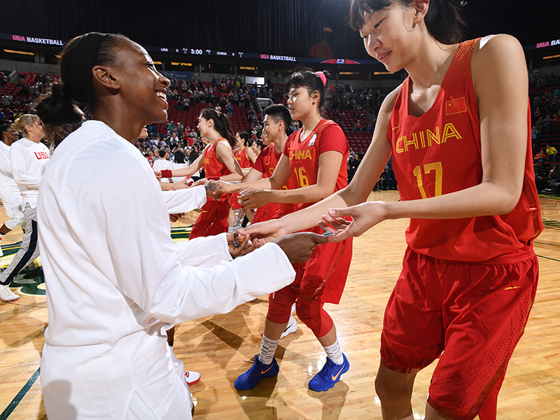 2018 USA National Team 83, China 46