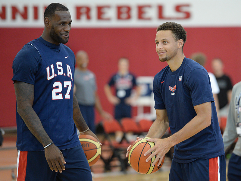 18 2015 mnt camp curry and lebron GettyImages 483753954jpg
