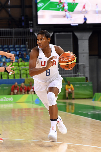 Angel McCoughtry made 5-of-6 field goals and finished the game with 13 points and four rebounds.